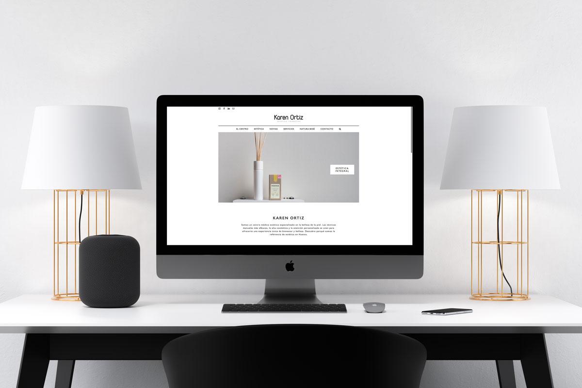 Karen Ortiz Diseño web UNAMINA agencia creativa zaragoza