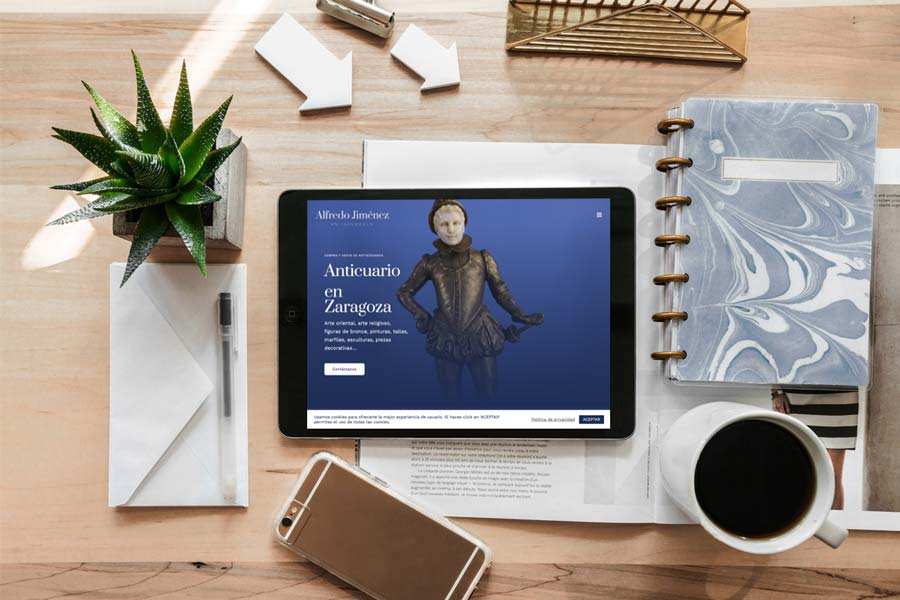 Diseño web para anticuario / tienda de antigüedades en Zaragoza - Diseño web Alfredo Jiménez